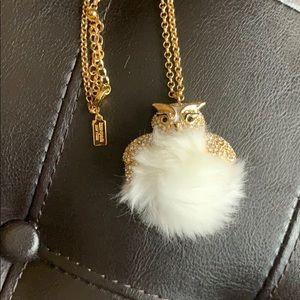 kate spade furry owl pendant